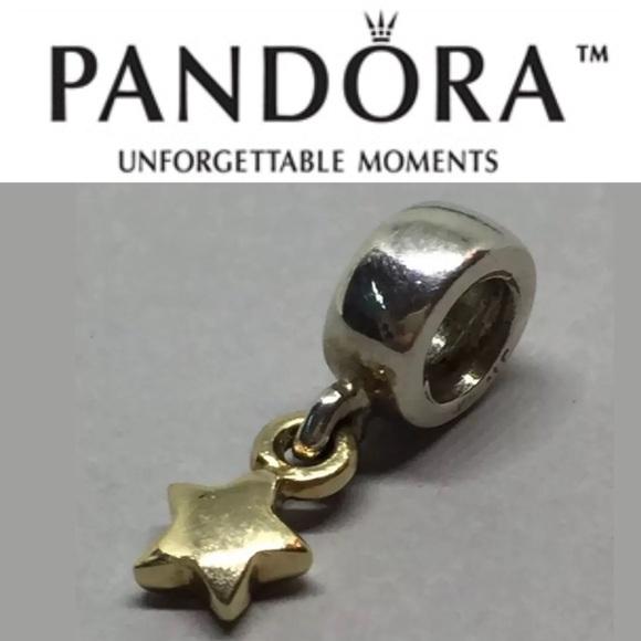 3c24880f3 Pandora Jewelry | 790139 Retired 2tone Star Dangle Charm | Poshmark